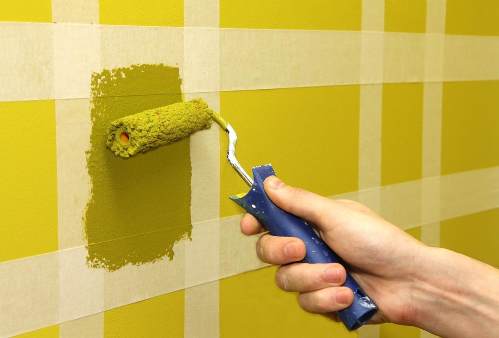 комбинированная окраска стен